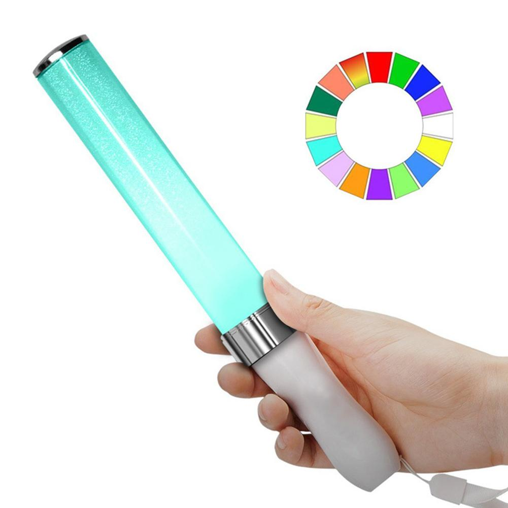 LED Light Stick Multi-color Sticks 15 Colors Changing Foam Baton Glow Stick Exotic Highlights Flashing Bar For Party Festivals