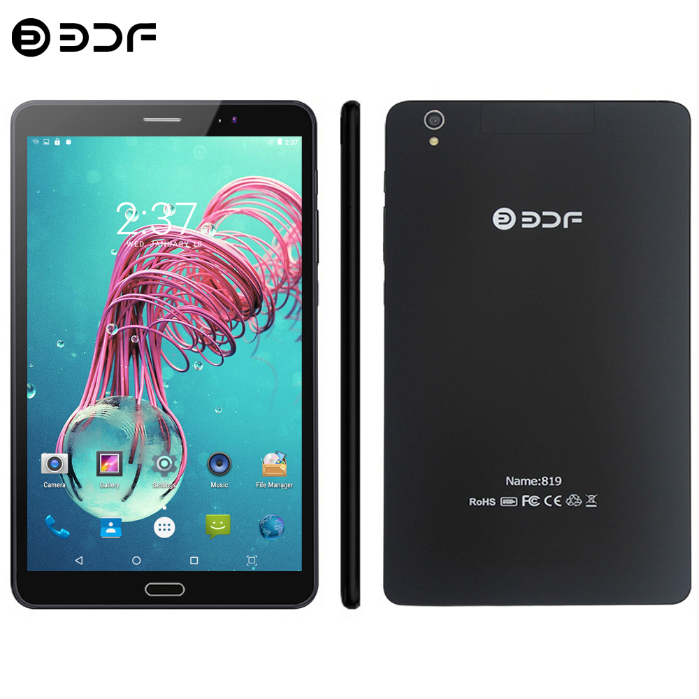 BDF 2019 Tablet 8 Inch 3G/4G LTE SIM Card Tablet Pc 1920*1200 IPS Android 7.0 4GB+64GB 5.0MP+12.0MP Octa Core Android Tablet 8