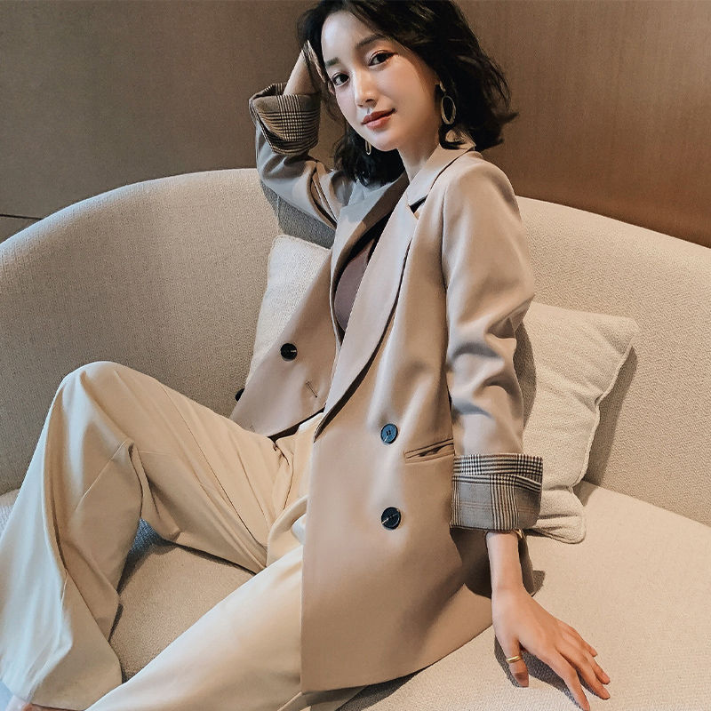2020 New Black Small Suit Jacket Female Spring and Autumn Casual Korean-Style Net Red Chic Jacket Loose Suit Medium-Length