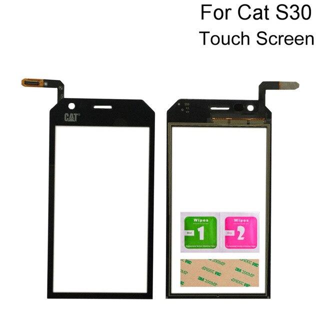 4.5 タッチスクリーンデジタイザパネル猫S30デジタイザタッチスクリーンの前面ガラスセンサーツール3メートルのりワイプ
