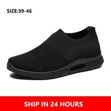 Zapatos ligeros para correr para hombre, zapatos de Running transpirables para hombre, zapatillas de deporte para hombre, zapatos informales para hombre, tallas 46, triangulación de envíos