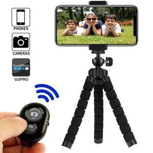 Image 1 - Smartphone חצובה עבור טלפון חצובה נייד חדרגל חצובה עבור מצלמה מחזיק Selfie מקל Bluetooth מרחוק תריס שחרור