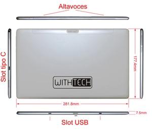 11,6 дюймовый планшет, ANDROID 8,0 DECA CORE 4G двойная карта, WIFI, 13 MPX, двойной кристалл WITHTECH