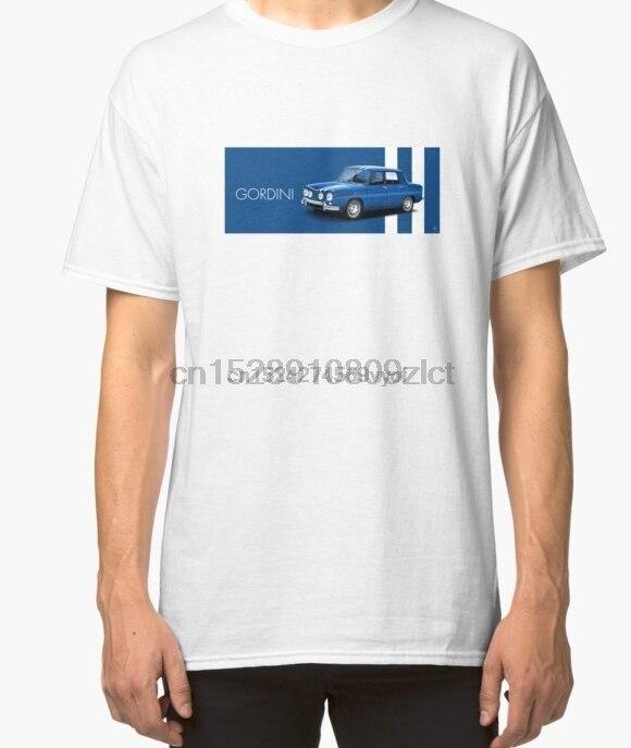 100% cotton o-neck custom printed t-shirt Classic car T-shirt Car Art - Renault 8 Gordini women tshirts