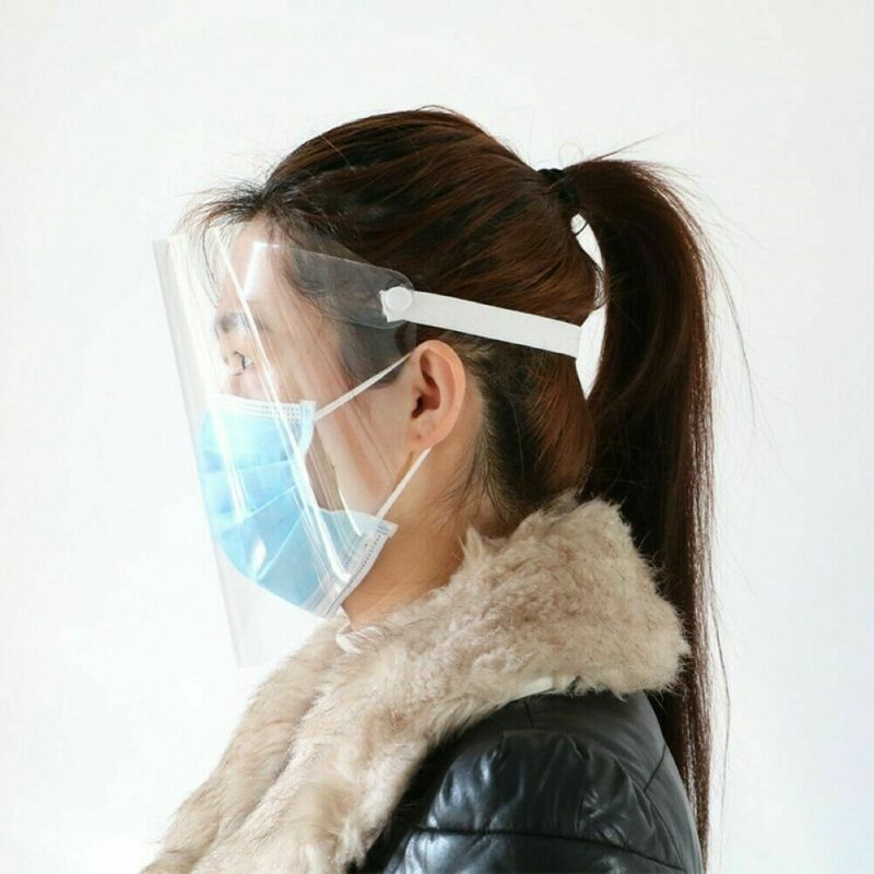 2020 Newest Protective Visor Hot 1 PC Anti-virus Saliva Transparent Mask Protective Face Shield PVC Protection