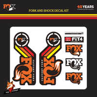 Bike Frame Forks Stickers MTB Front Fork Decals Mountain Bike Stickers FOX FACTORY 40year