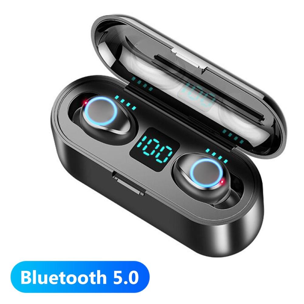 F9 TWS Bluetooth 5.0 Stereo Wireless Earphones Sport Headset with Charge Box Wireless Sports Business Bluetooth Headset