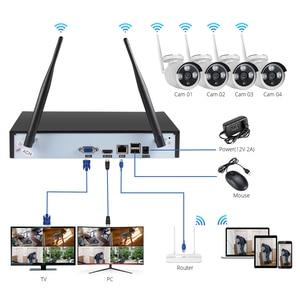 Image 2 - Fuers 4CH CCTV Camera Security System Kit WIFI Wireless NVR Kit 1080P IR Night Vision Outdoor IP Camera Video Surveillance Set