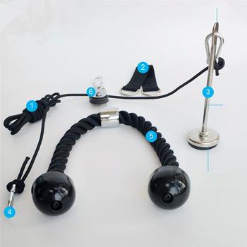 Fitness DIY koło pasowe maszyna do kabli ramię Biceps Triceps Blaster Rope System siła ręczna trening domowa siłownia sprzęt treningowy F1089 tanie i dobre opinie 20 kg Ramiona