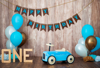 photocall wooden wall balloons backgrounds photography Fotografia ONE year birthday backdrops for photo studio - discount item  38% OFF Camera & Photo