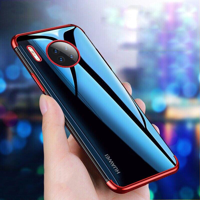Clear Silicone Case For Huawei Mate 30 Pro Honor 20 9X Pro 20I Nova 5 5I P30 Lite P20 8S Y9 Prime 2019 Plating Soft TPU Cover