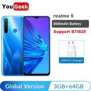 Realme 5-Global-Version 3GB 64GB LTE/GSM/WCDMA Adaptive Fast Charge Bluetooth 5.0 Octa Core