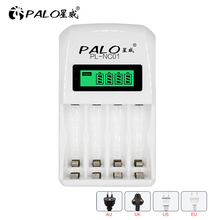 4 slots LED battery charger battery compatible with fast charging for AA / AAA Ni MH nimh ni mh  / Ni  cd rechargeable battery