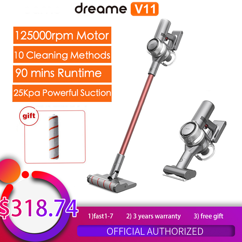 Dreame V11Handheld Wireless Vacuum Cleaner OLED Display Portable Cordless Sweeper Home All in one Dust Collector floor Carpet|Vacuum Cleaners|   - AliExpress