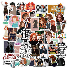 50PCS TV Series The Queen's Gambit Stickers Pack For DIY Stationery Laptop Skateboard Motorcycle Guitar Helmet Cool Sticker