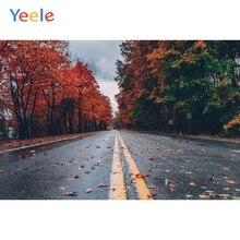 Yeele Photozone Tree Road Autumn Outdoor Landscape Baby Child Photography Backgrounds Photographic Backdrops Photo Shoot Props