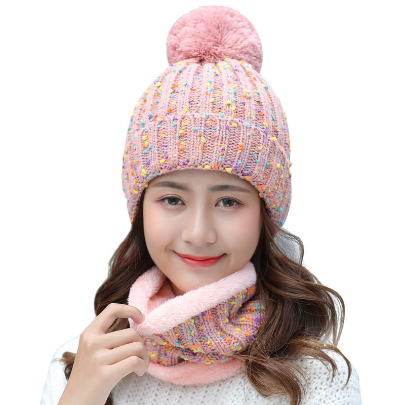 Women Beanies Knit Hat Winter Scarf Knitted Hat Caps Mask Warm Baggy Winter Hats For Girls Skullies Beanies Hats