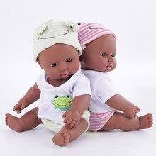 Маленькая африканская кукла, Черная мягкая детская кукла-младенец, игрушки-Реборн, подарок на день рождения для мальчиков и девочек, подвиж...