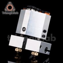 Trianglelab extrusora de doble extrusión, campana y enfriado por agua para impresora 3d, boquilla táctil 3d e3d hotend titan