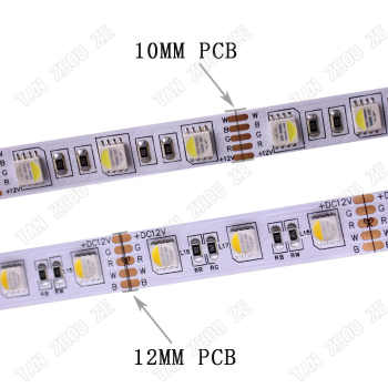 10MM PCB RGBW LED Strip 5050 DC12V Flexible Light RGB+White / RGB+Warm White 4 color in 1 LED Chip 60 LED/m 5m/lot.