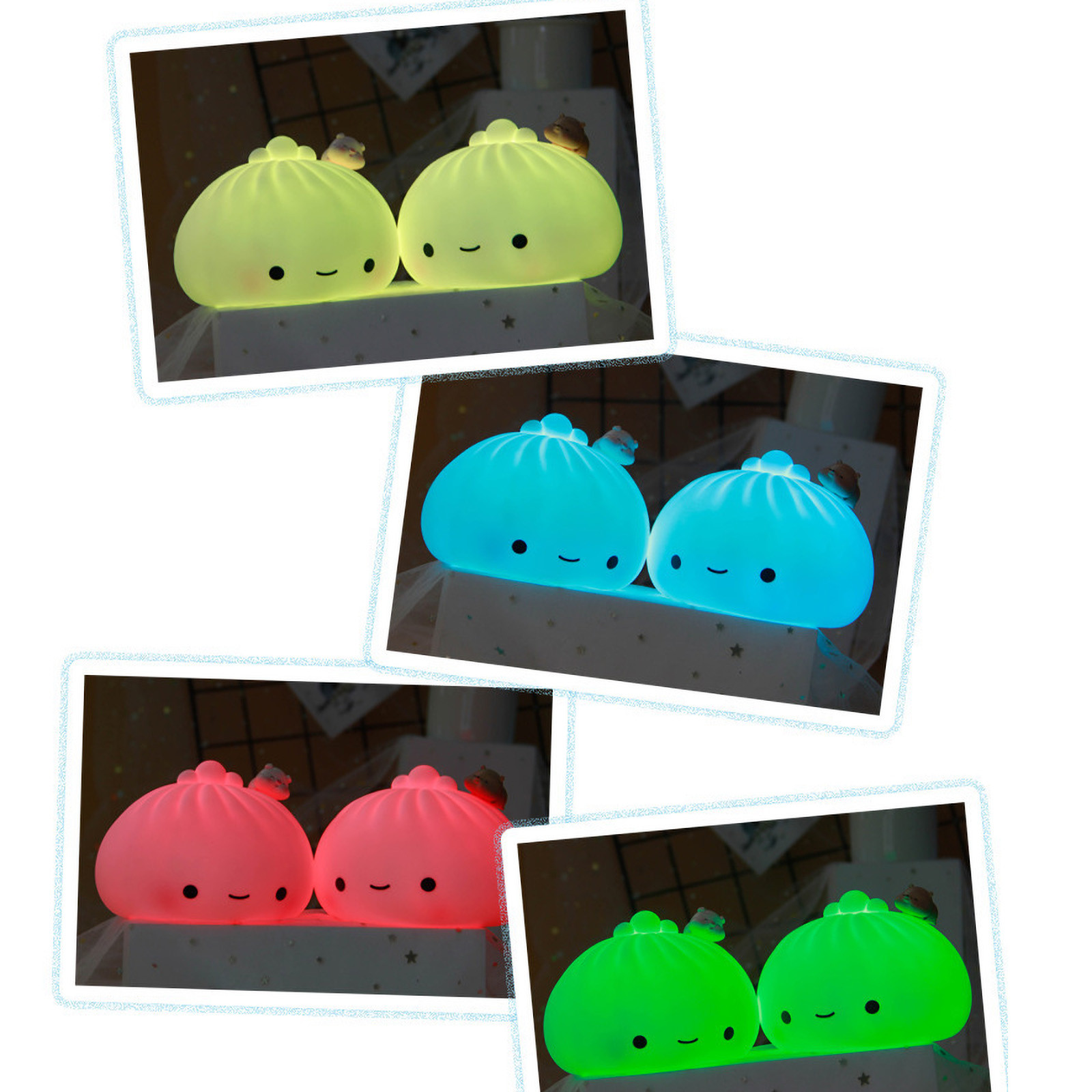 Lamp Fidget-Toy Glue-Stress Reliever Colorful Mini Baozi Desktop Soft Nightlight Festival img2