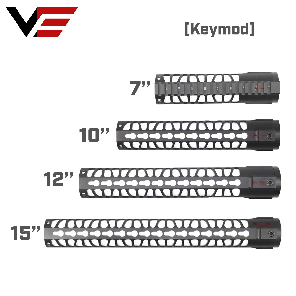 AR15 M4 M16 KeyMod Tactical 7 10 12 15 inch One Piece Free Float Rifle Handguard Picatinny Rail Mount Bracket(China)