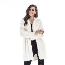 2019 Fur Coat Winter Womens New High-end Elegant Lamb Wool Long-sleeved Lapel Furry Long Faux Casaco De Pele Feminino