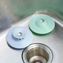 Абсолютно силиконовый дренажный фильтр для кухонной раковины, сливной фильтр, заглушка для ванной комнаты