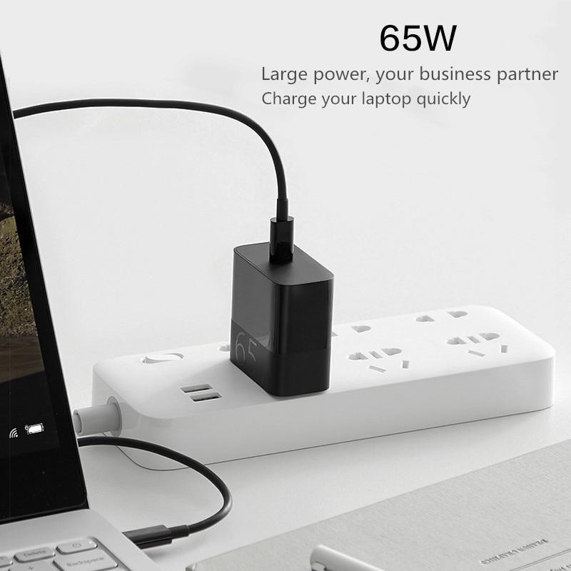 Original Xiaomi ZMI 65W PD QC 3.0 Charge rapide Snel Opladen met 5A USB-C om USB-C Kabel pour Android iOS commutateur d'ordinateur portable Xiaomi 9