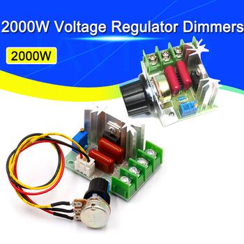 AC 220V 2000W SCR Regulator napięcia ściemniacze ściemniacze Regulator prędkości silnika termostat elektroniczny Regulator napięcia moduł Javino tanie i dobre opinie Stlxy CN (pochodzenie) JEDNOFAZOWE