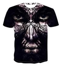 Summer Men 'S T -Shirt Men 'S Harajuku Short Sleeve Heavy Metal T -Shirt Casual Head Print 3d Men 'S T -Shirt S -6xl