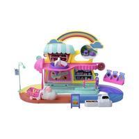 1set Dollhouse Electric Vibration Little White Rabbit Supermarket Shopping Toy Set DIY Mini House Toy Birthday Educational Gift