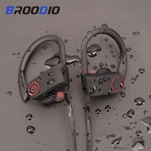 Image 1 - Sport Bluetooth Headphone Stereo Ear hook Wireless Earphones Waterproof Bluetooth 5.0 Headset With Microphone For iPhone Huawei
