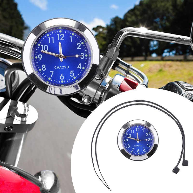 1 комплект Универсальный руль мотоцикла на руль с креплением на циферблате часы водонепроницаемые пластиковые базовые стеклянные линзы для Honda Yamaha Suzuki и т. д.