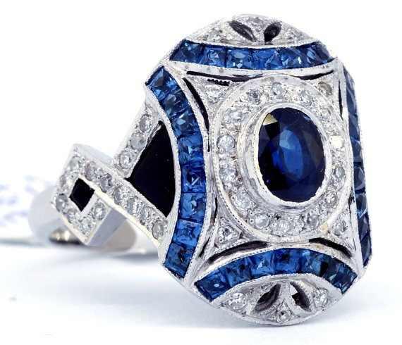 Géométrique bleu AAA Zircon bague de fiançailles pour femme populaire strass anneaux de mariage pour les femmes bijoux argent 925 anneau hommes