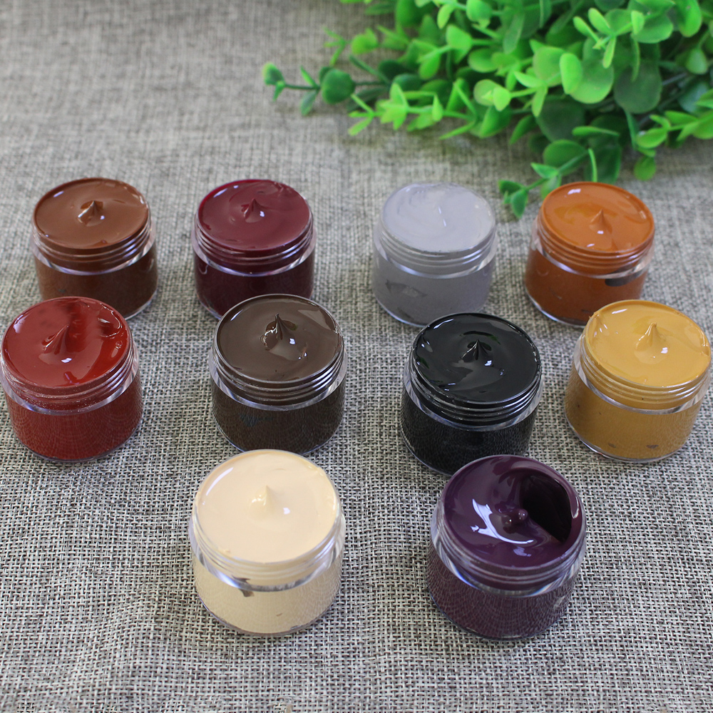 Leather Paint Shoe Cream Coloring For Bag Sofa Car Seat Scratch 30ml Colorful Leather Dye Repair Restoration Color Change Paint