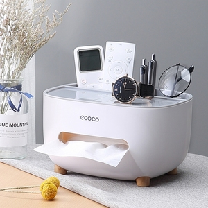 Drawer household living room dining room creative lovely simple light luxury multi function remote control storage tissue box