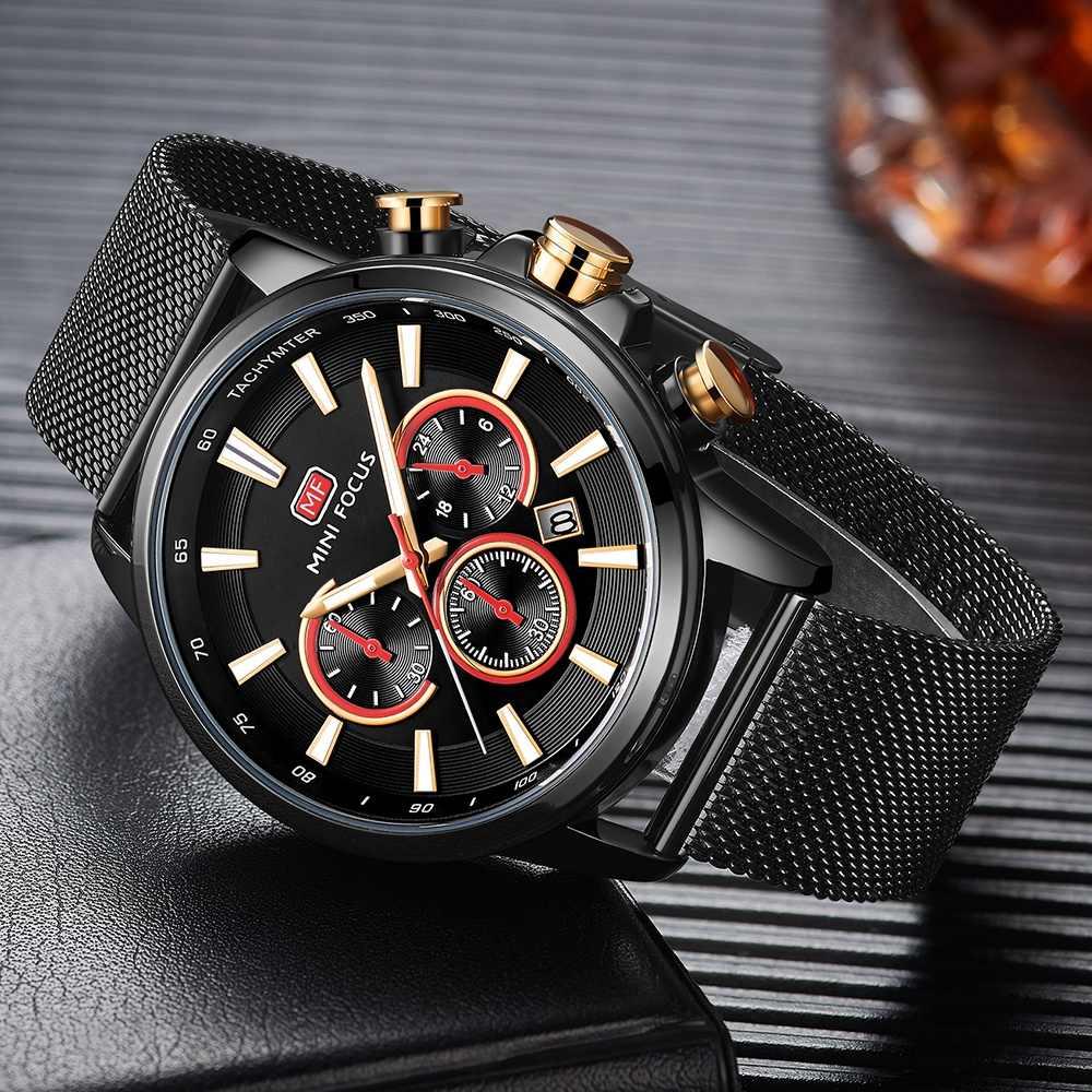 MINIFOCUS montre-bracelet hommes Top marque de luxe célèbre homme horloge Quartz montre-bracelet Quartz-montre Relogio Masculino MF0142G. 02