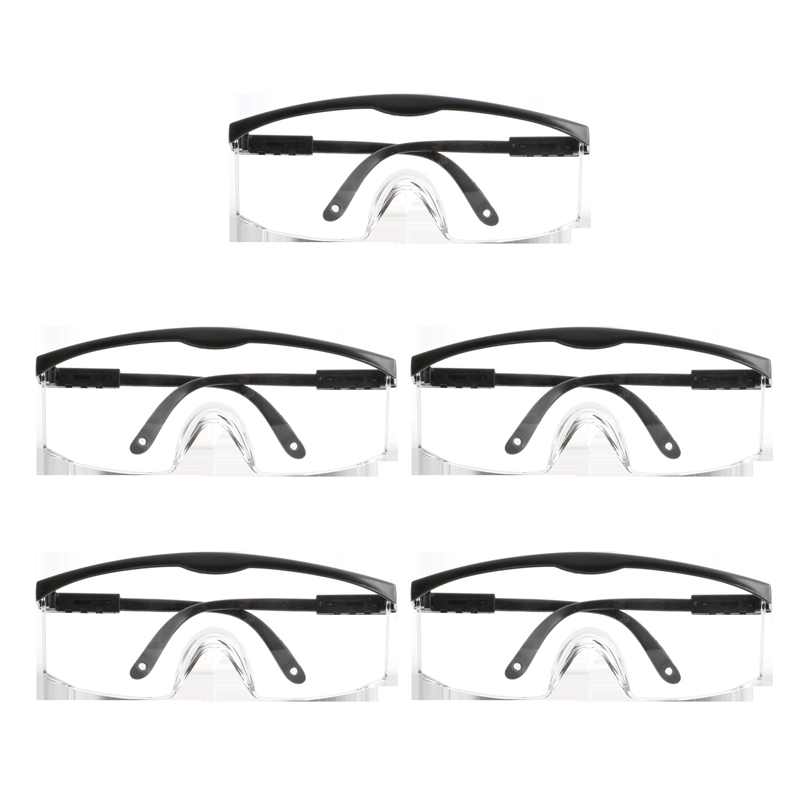 5Pcs Protection Goggles Windbreak Anti Sand Work Eyewear Goggles for Riding Lab Outdoors|Safety Goggles| |  - title=