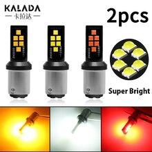цена на 2X high bright car led 1156 ba15S p21w 1157 bay15d p21/5w led brake light canbus backup lamp for turn signal reverse Bulb DC 12V