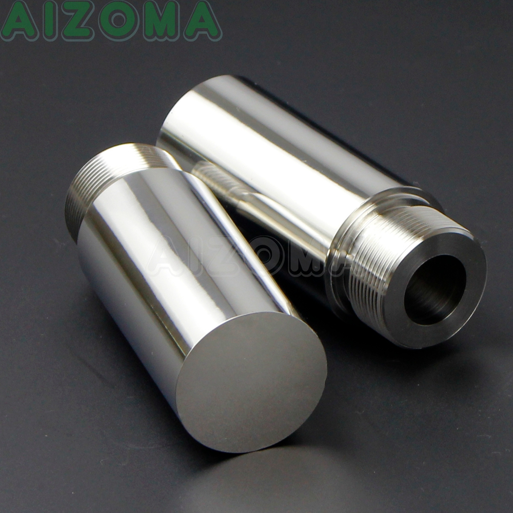 2Pcs Stainless Steel Motorcycle 39mm Fork Tube 3in Extension For Harley Davidson