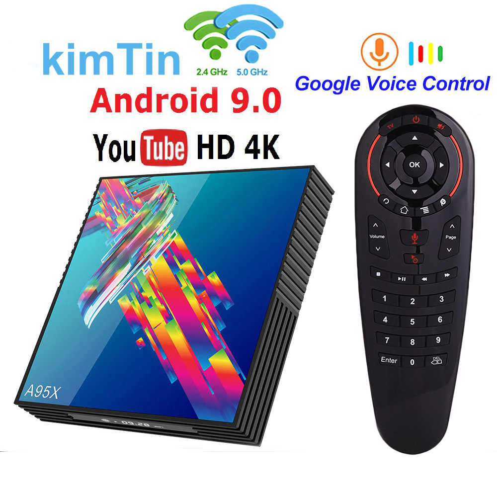 Tivi Box Android 9 A95X R3 RK3318 Smart TV Box 4GB 64GB USB3.0 2.4G 5G Wifi google Play Store Netflix Youtube IPTV 4K Đa Phương Tiện