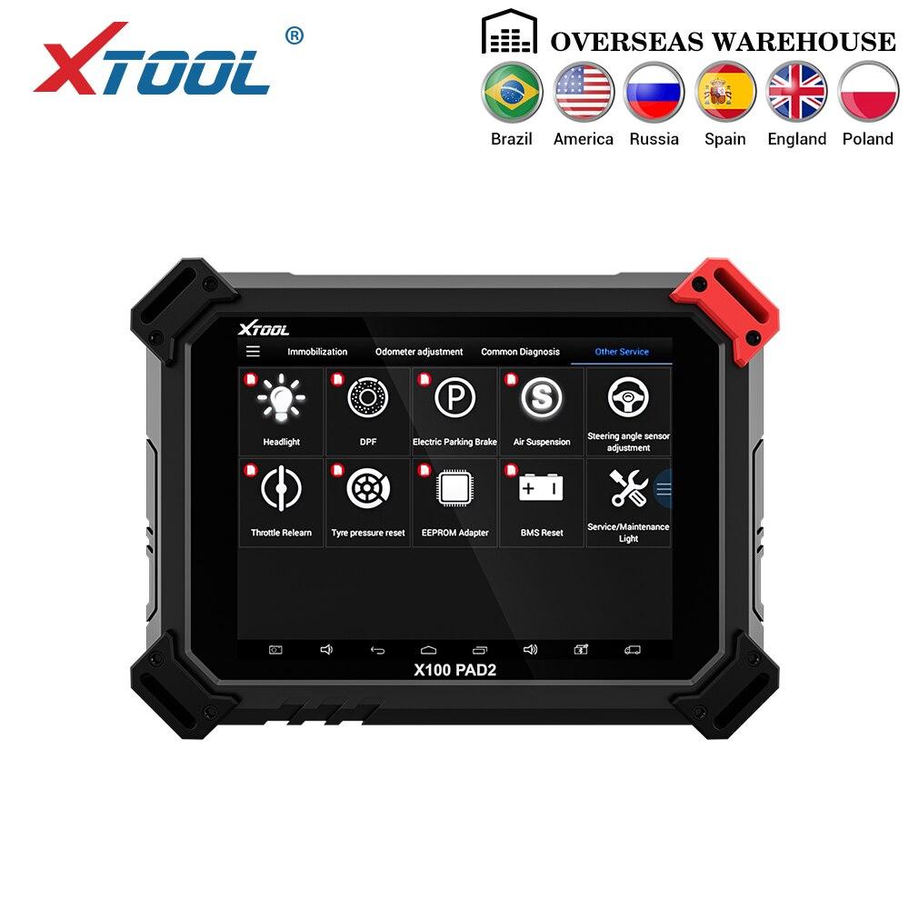 XTOOL X100 PAD2 OBD2 Programação chave / correção do odômetro / Diagnóstico do carro, pode ser usado para a maioria dos modelos de carros COM Bluetooth / WIFI, atualização on-line gratuita
