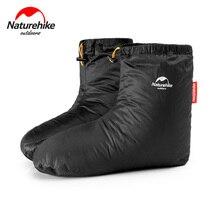 Naturehike kış kaz tüyü ayakkabı kapakları aşağı sıcak tutmak ayakkabı kapakları su geçirmez ayak kapakları açık kamp yürüyüş