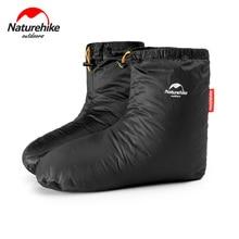 Naturehike الشتاء أوزة أسفل أغطية الحذاء الدفء أسفل الأحذية يغطي مقاوم للماء القدم يغطي في الهواء الطلق التخييم التنزه