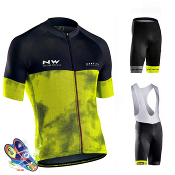 Factory Direct Sales! 2019 Pro Team Nw Cycling Jersey Suit Bike Cycling Clothing Quick Dry Cycling Breathable Cycling Sportswear