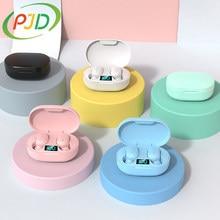 PJD TWS Bluetooth Kopfhörer Drahtlose Kopfhörer 5,0 Led-anzeige Button Control Ohrhörer Wasserdichte Noise Cancelling Headset PK A6S