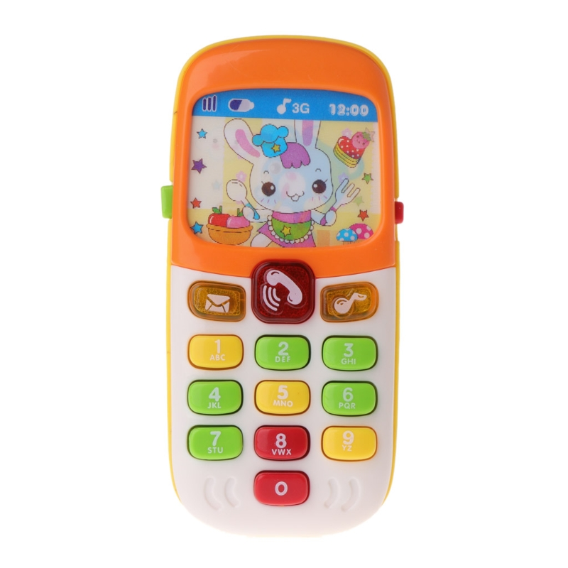 Baby Toy Mobile Phone Kid Electronic Musical Cartoon Smartphone Educational Gift K4UE