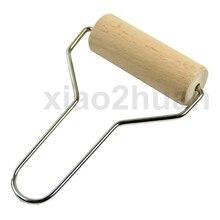 Деревянные для глины ролик гончарная Скалка Инструмент Моделирования ручка из нержавеющей стали