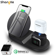 Wireless Charger Stand for iPhone AirPods Apple Watch, Charg